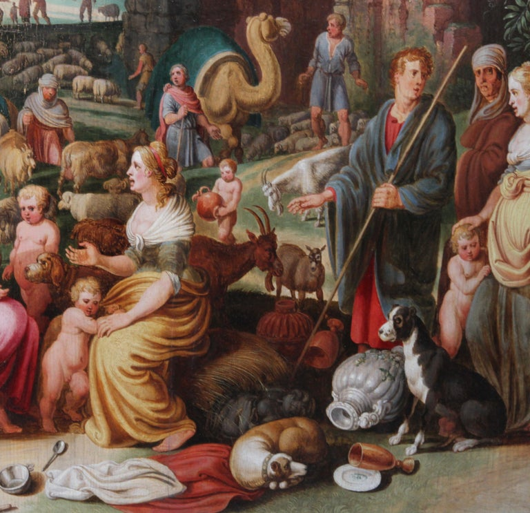 Laban Demanding the Return of the Teraphim from Rachel - Dutch Old Master art For Sale 3