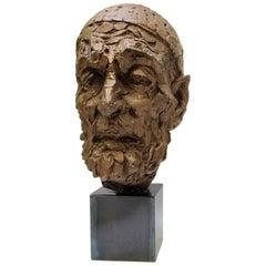 Willem Verbon, Kees van Dongen, Ninety Years Old, First Bronze Cast, 1968