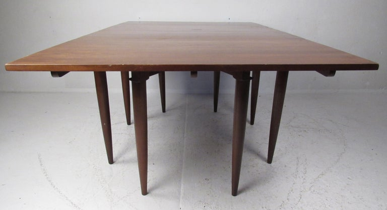 American Classical Willett Solid Cherry Transitional Drop Leaf Dining Table For Sale