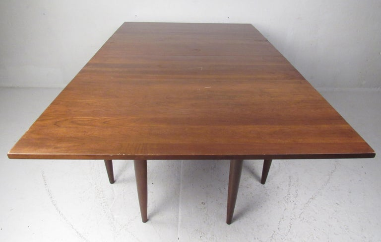 American Willett Solid Cherry Transitional Drop Leaf Dining Table For Sale