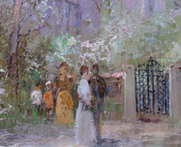 {Alfresco Scene} - Impressionist Painting by Willi BAUER