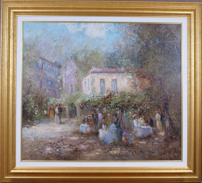 Willi BAUER Landscape Painting - {Alfresco Scene}