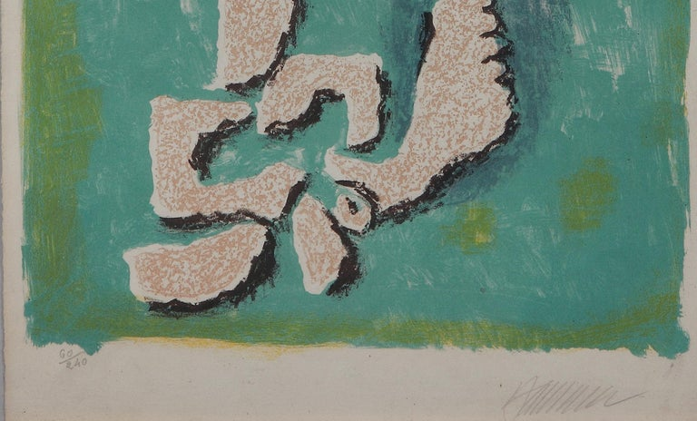 """Lutinus au Printemps"" ( Kobolde im Frühling ) Lithograph by Willi Baumeister For Sale 3"