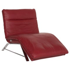 Willi Schillig Daily Dreams Leather Lounger Red