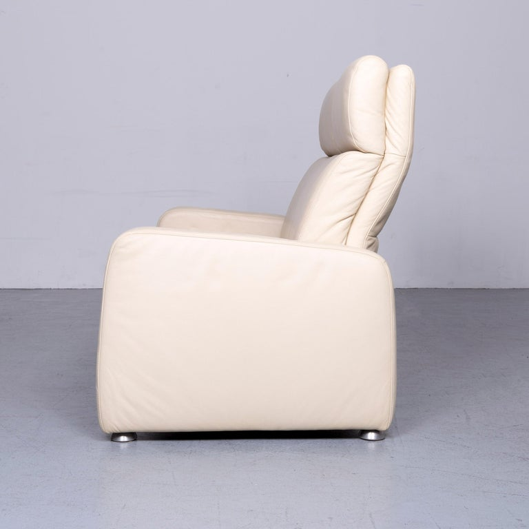 Willi Schillig Designer Leather Sofa Beige Two-Seat Couch 5