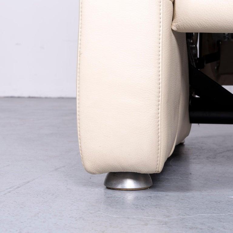 Willi Schillig Designer Leather Sofa Beige Two-Seat Couch 2