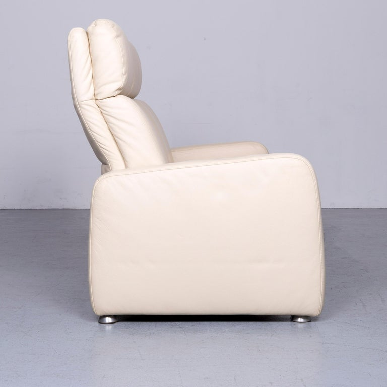 Willi Schillig Designer Leather Sofa Beige Two-Seat Couch 3