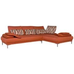 Willi Schillig Fabric Sofa Orange Corner Sofa