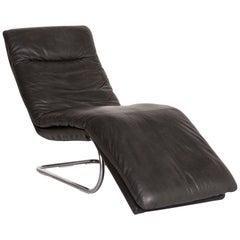 Willi Schillig Jill Leather Lounger Gray Relax lounger