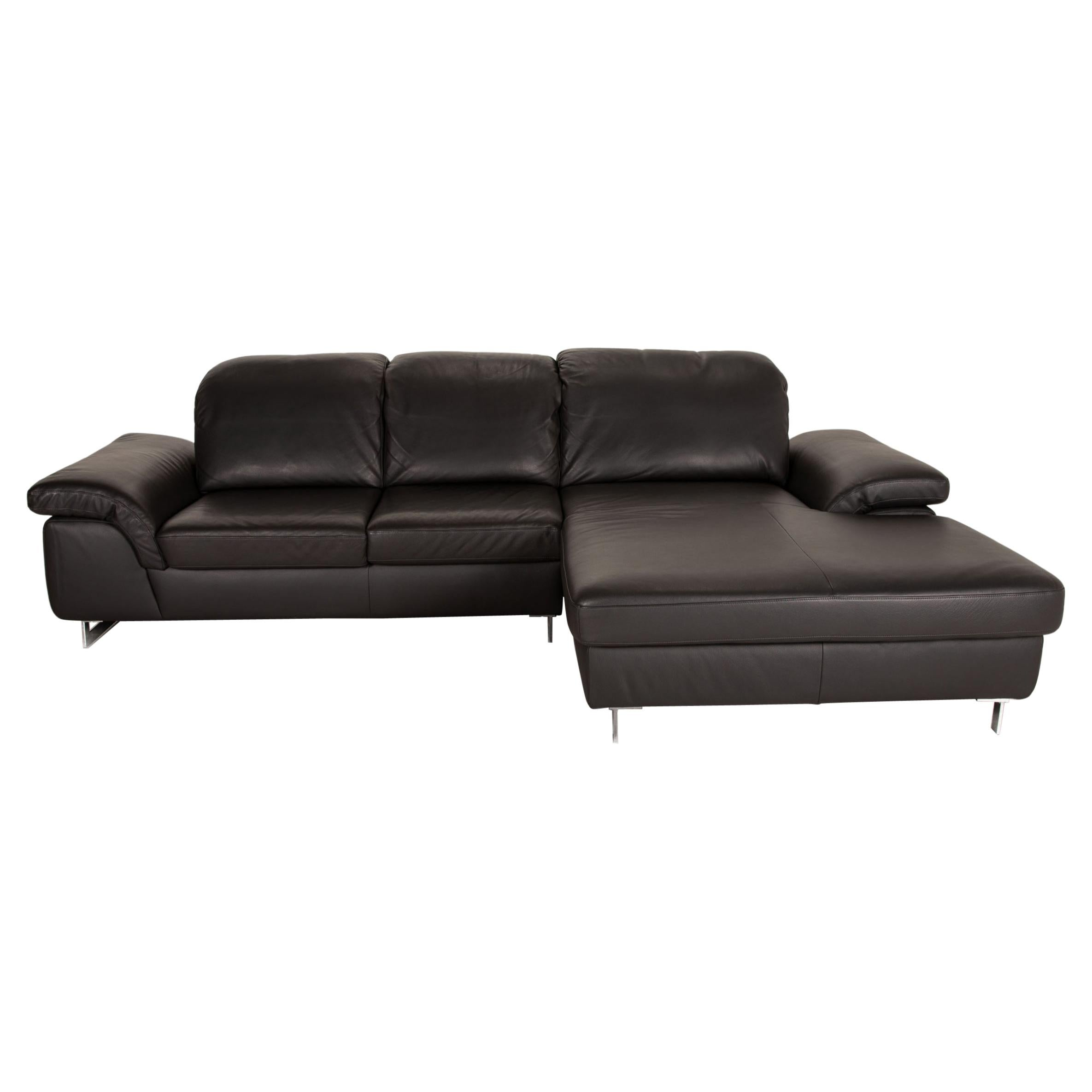 Willi Schillig Joyzze Plus Leather Sofa Gray Corner Sofa Function Couch