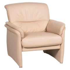 Willi Schillig Leather Armchair Beige