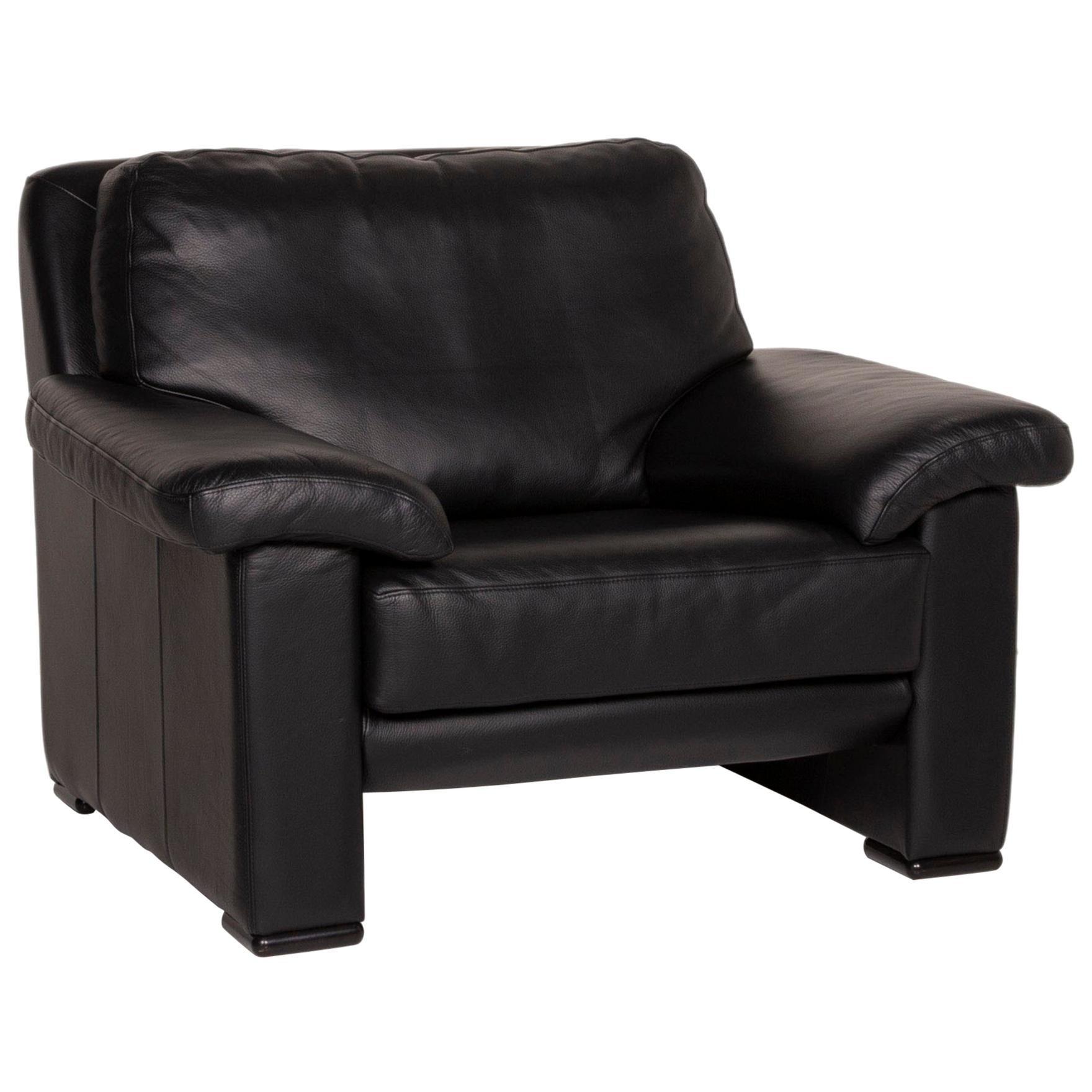 Willi Schillig Leather Armchair Black