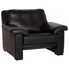 Willi Schillig Leather Armchair Black