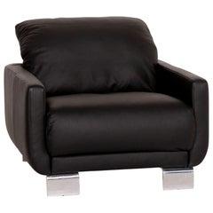 Willi Schillig Leather Armchair Black Function