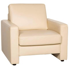 Willi Schillig Leather Armchair Cream