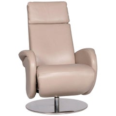 Willi Schillig Leather Armchair Cream Relax Function