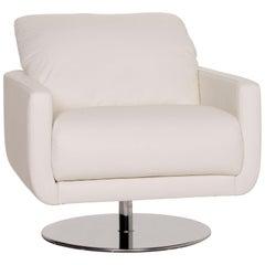 Willi Schillig Leather Armchair White Function