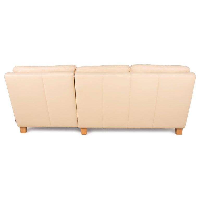 Willi Schillig Leather Sofa Cream Corner Sofa Couch For Sale 5