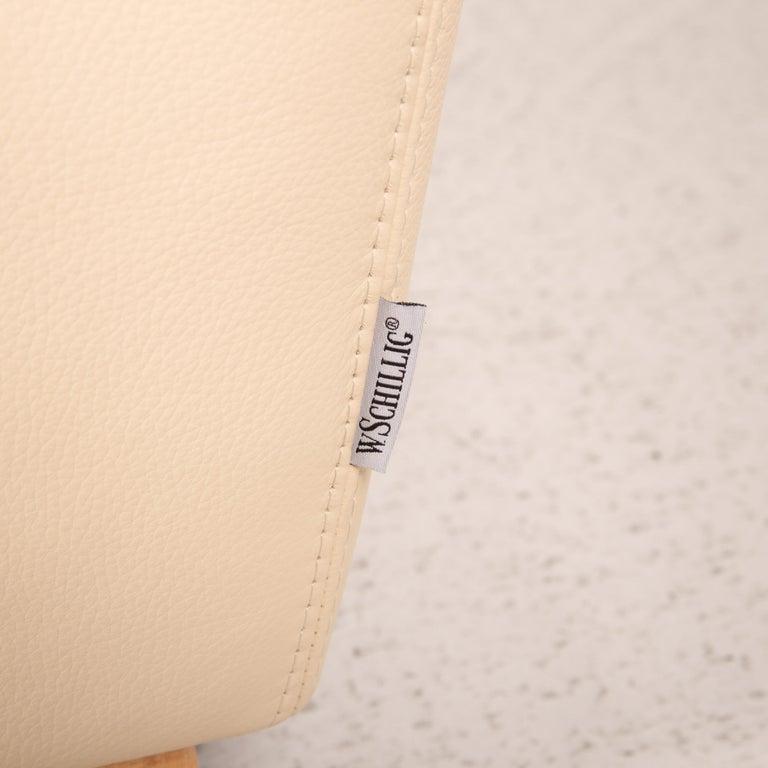 Willi Schillig Leather Sofa Cream Corner Sofa Couch For Sale 1