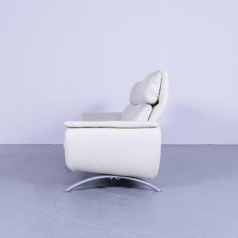 Willi Schillig Leather Sofa Off-White Three-Seat 5