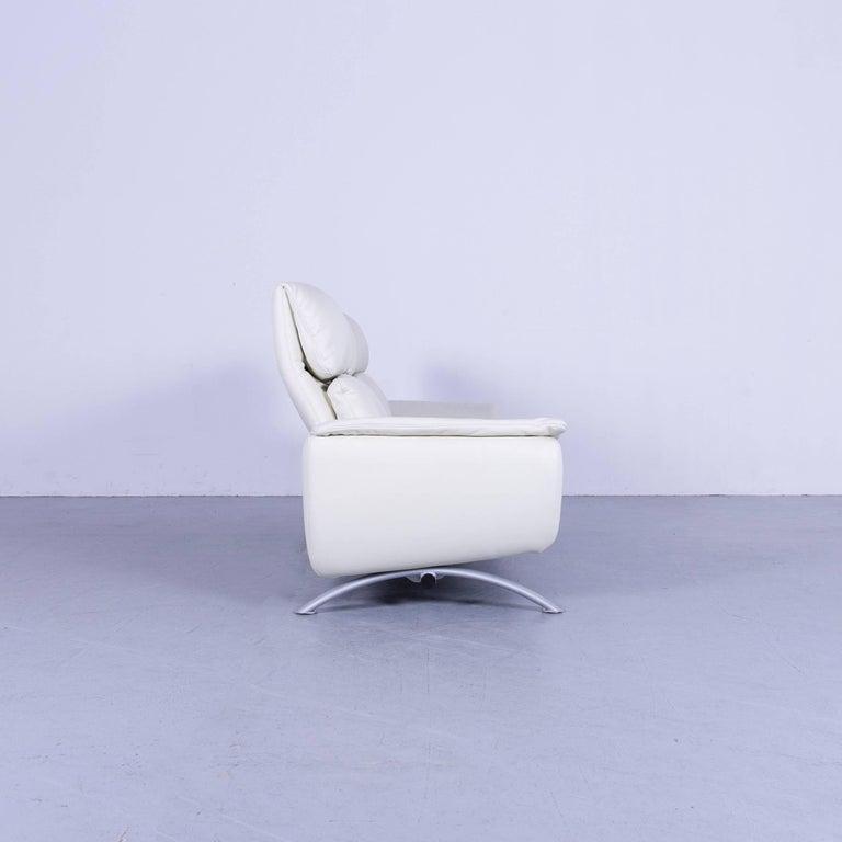 Willi Schillig Leather Sofa Off-White Three-Seat 7