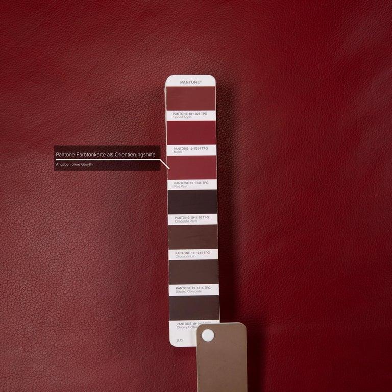 Contemporary Willi Schillig Leather Sofa Red Corner Sofa For Sale