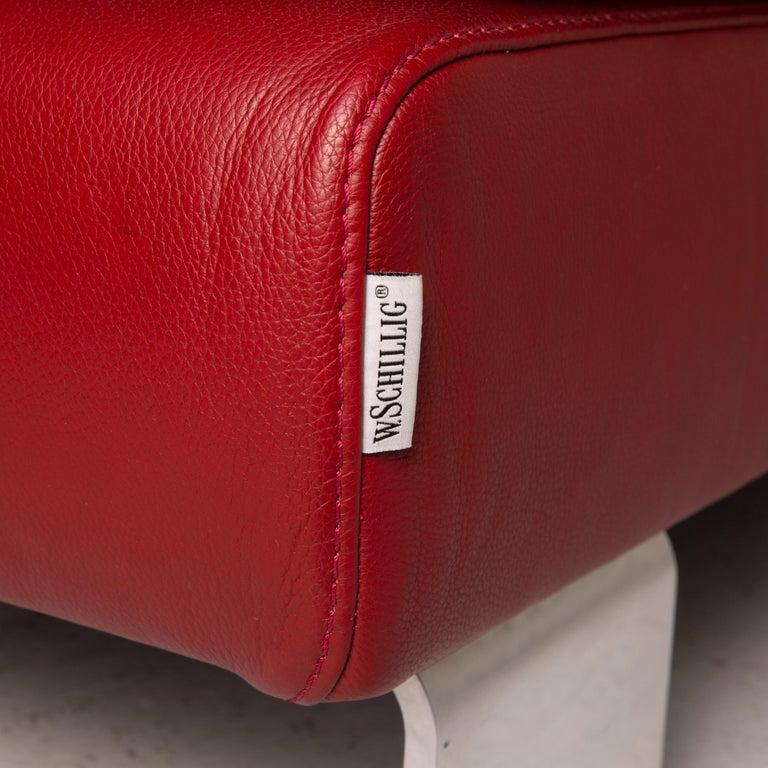 Willi Schillig Leather Sofa Red Corner Sofa For Sale 1