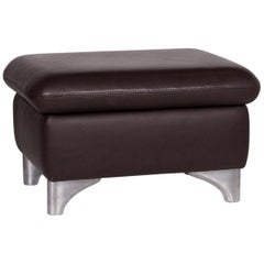 Willi Schillig Leather Stool Brown Stool