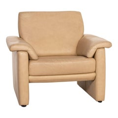 Willi Schillig Lucca Leather Armchair Beige