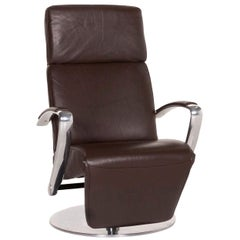 Willi Schillig Timeout Leather Armchair Brown Relax Armchair Relax Function