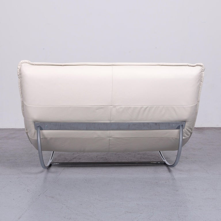 Willi Schillig Woow Designer Leather Couch in Crème 3