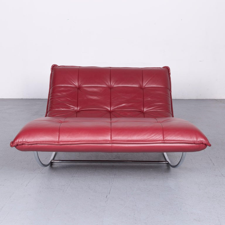 We bring to you a Willi Schillig Woow designer leather couch in red.