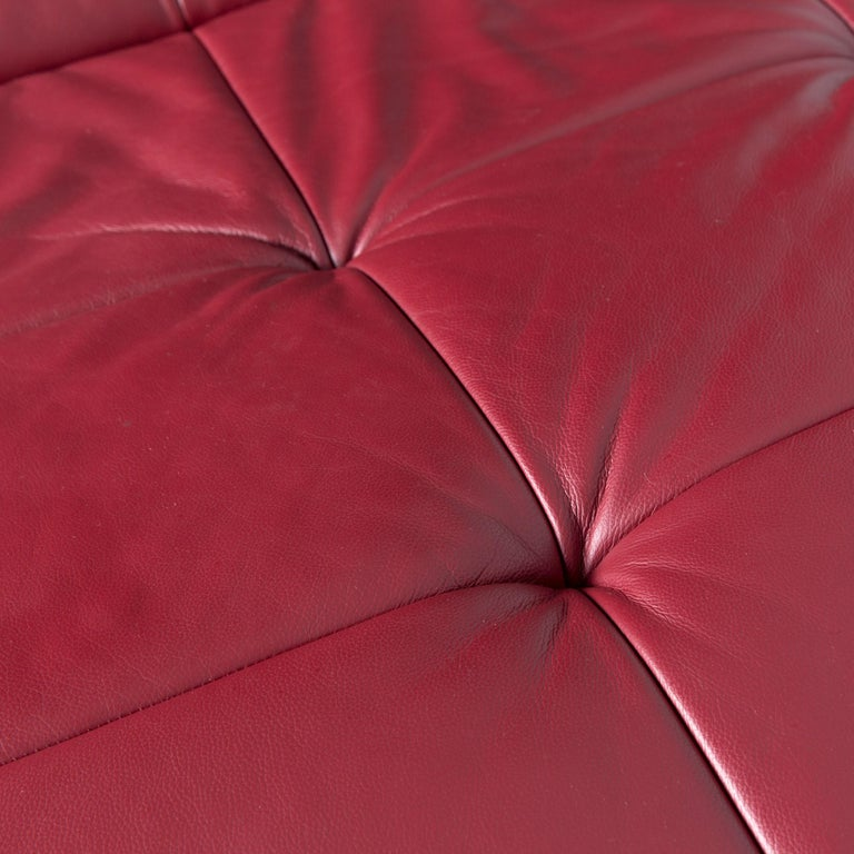 Willi Schillig Woow Designer Leather Couch in Red In Fair Condition In Cologne, DE