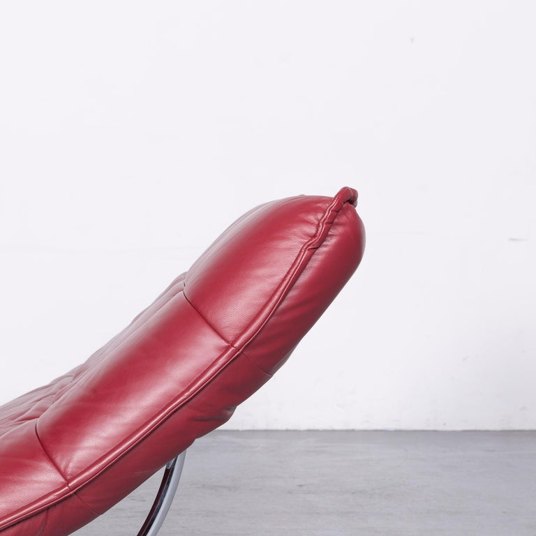 Willi Schillig Woow Designer Leather Couch in Red 1
