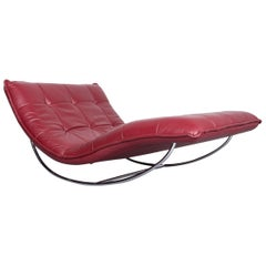 Willi Schillig Woow Designer Leather Couch in Red