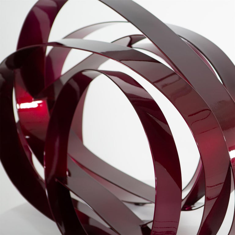 Willi Siber (1949) - Floor Object, Steel and Lacquer, Germany - Black Abstract Sculpture by Willi Siber
