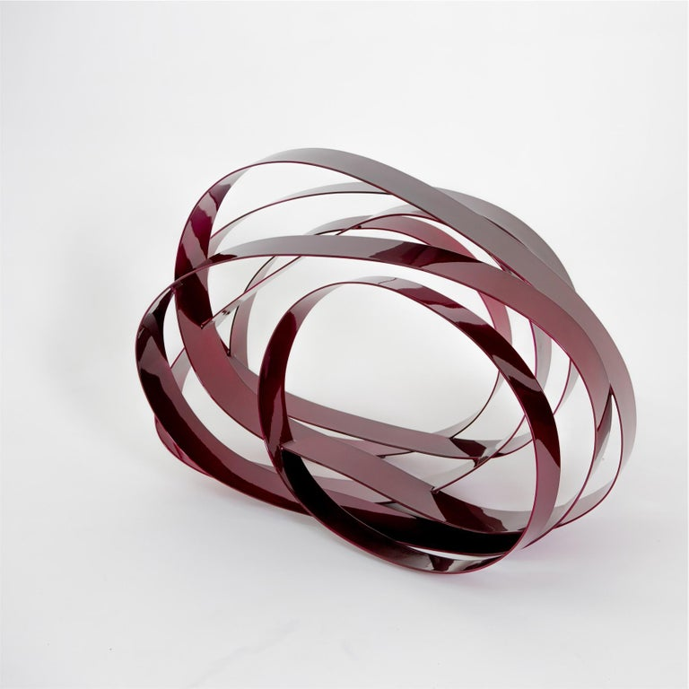 Willi Siber (1949) - Floor Object, Steel and Lacquer, Germany For Sale 5