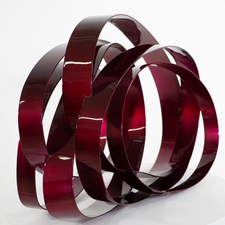 Willi Siber (1949) - Floor Object, Steel and Lacquer, Germany - Sculpture by Willi Siber