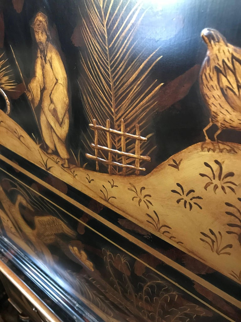 William & Mary Style Large Chest with Chinoiserie Decoration For Sale 3