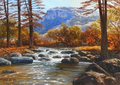 """Autumn Rapids"", W.A. Slaughter, Original, Oil on Canvas, 30x40 in., Landscape"