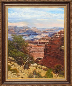 """Grand Canyon"", W.A. Slaughter, Rare Original, Oil on Canvas, 60x48 in."