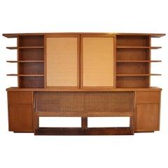 William Adair Bernoudy Architect Bookshelf Display Headboard Bed Frame