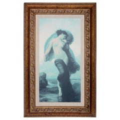 """William-Adolphe Bouguereau French Mystical """"Evening Mood"""" Canvas Print in Frame"""