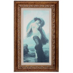 "William-Adolphe Bouguereau French Mystical ""Evening Mood"" Canvas Print in Frame"