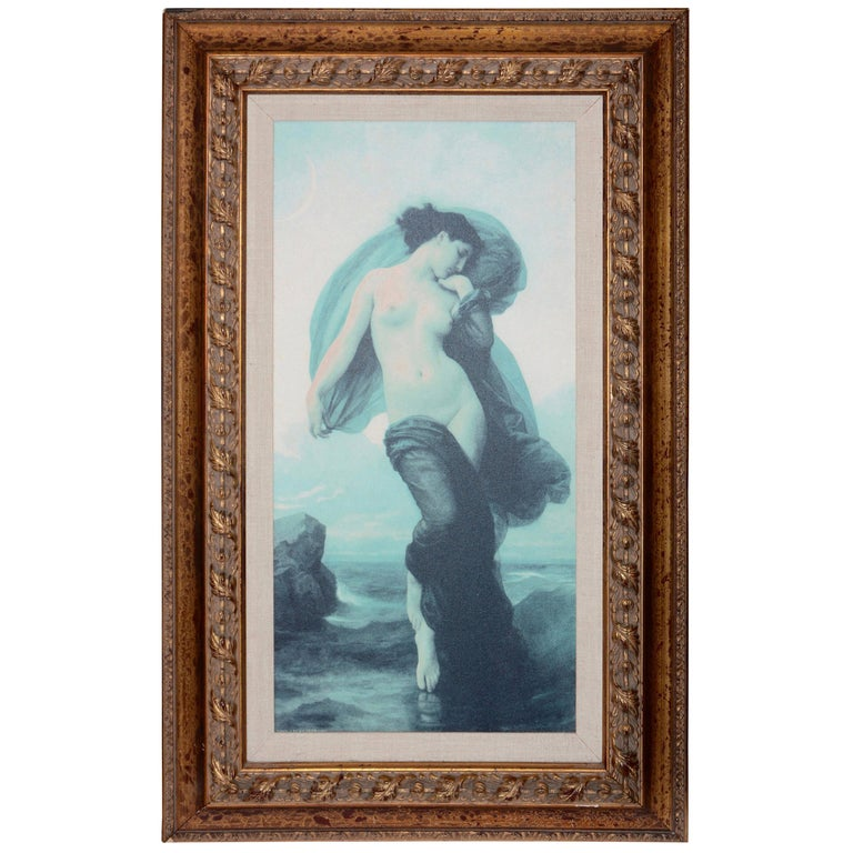 """William-Adolphe Bouguereau French Mystical """"Evening Mood"""" Canvas Print in Frame For Sale"""
