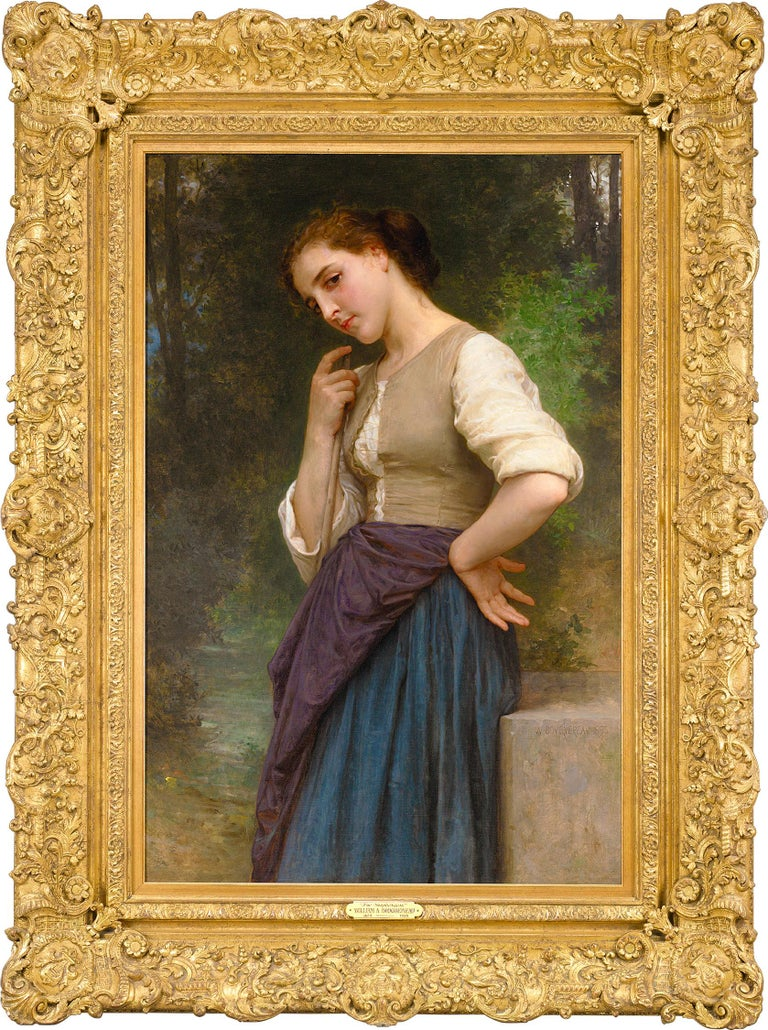 The Shepherdess - Painting by William-Adolphe Bouguereau