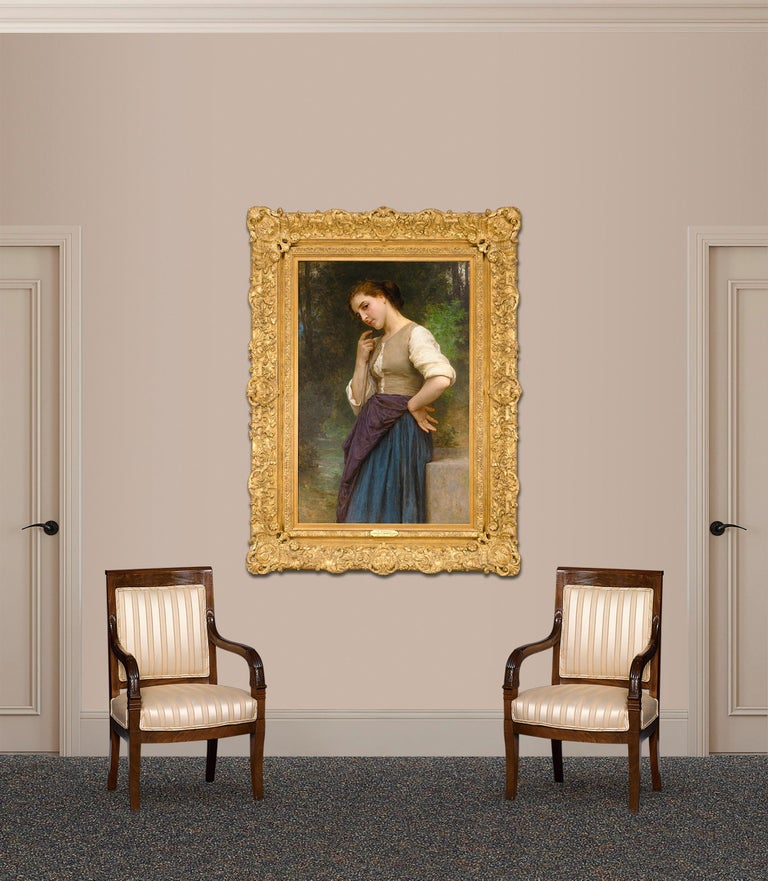 No other artist embodies the ideals of French Neoclassical painting as perfectly as William Adolphe Bouguereau. A student of the neoclassical great, Jean-Auguste-Dominique Ingres, his works display an unsurpassed degree of finish and luminous