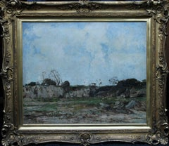 The Quary - Scottish 1910 art Impressionist landscape oil painting Scotland