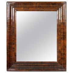 William and Mary Laburnum Wood Cushion Frame Mirror