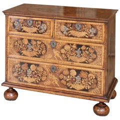 William and Mary Marquetry Chest of Drawers